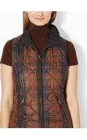 Lauren by Ralph Lauren Reversible Full-zip Vest - Lyst