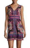 Nanette Lepore Twill Multi-design Sleeveless Dress - Lyst