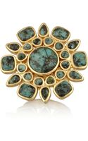 Isharya Icon Goldplated Turquoise Ring - Lyst