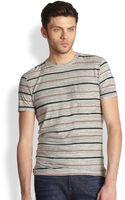 7 For All Mankind Marled Stripe Tee - Lyst