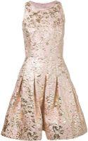 Oscar de la Renta Brocade Cocktail Dress - Lyst