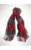 Polo Ralph Lauren Tartan Wool-blend Scarf - Lyst
