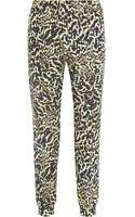 Giambattista Valli Leopardprint Stretchjersey Pants - Lyst