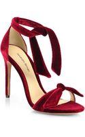 Alexandre Birman Velvet Tie Sandals - Lyst