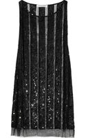 Balmain Sequin Embellished Tulle Top - Lyst