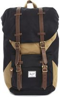 Herschel Supply Co. Web Exclusive Little America Black and Sand Backpack - Lyst