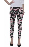 Armani Jeans Floral Printed Trousers - Lyst