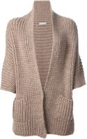 Roberto Collina Open Front Cardigan - Lyst