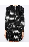 Asos Coat with Dropped Waist Cutwork - Lyst