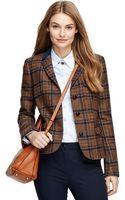 Brooks Brothers Wool Herringbone Jacket - Lyst