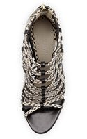Jason Wu Strappy Snakeskin Sandal - Lyst