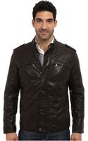 Perry Ellis Faux Leather Four-pocket Jacket - Lyst