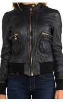 Doma Leather Bomber Jacket - Lyst