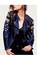 Free People Americana Denim Jacket - Lyst