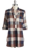 Fun 2 Fun/jnp Fashion Inc. Bonfire Stories Tunic in Brown Plaid - Lyst