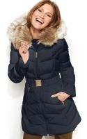 Laundry By Shelli Segal Faux Fur Hooded Down Puffer Coat - Lyst