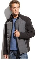 Calvin Klein Mixed-media Quilted Jacket - Lyst