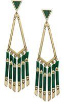 House Of Harlow Goldtone Fringe Drop Earrings - Lyst