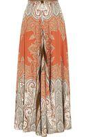 Etro Printed Silk-crepe Maxi Skirt - Lyst