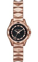 Karl Lagerfeld Womens Karl 7 Rose Gold Ion-plated Stainless Steel Studded Bracelet Watch 30mm - Lyst