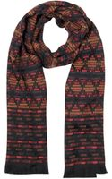 Missoni Geometric Wool Blend Woven Fringed Scarf - Lyst