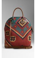 Burberry The Bloomsbury in Handpainted Leather and Tapestry - Lyst