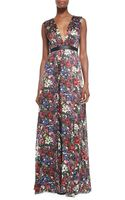 Alice + Olivia Triss Floral-print Maxi Dress with Cutout Back - Lyst