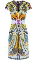 Etro Abstract Print Pleated Dress - Lyst