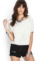 Forever 21 Embroidered Knit Top - Lyst