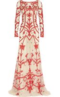 Temperley London Francine Chiffon-appliquéd Tulle Gown - Lyst