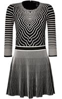 Marc By Marc Jacobs Radio Waves Intarsia Knit Dress - Lyst