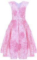 Antonio Berardi Croc Jacquard Full Skirt Dress - Lyst