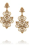 Oscar de la Renta Goldplated Clip Earrings - Lyst