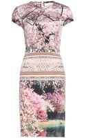 Mary Katrantzou Silver Lake Printed Silk Dress - Lyst