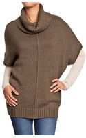 Old Navy Cowl-neck Poncho Sweaters - Lyst