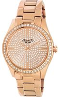 Kenneth Cole Womens Rose Gold Ionplated Stainless Steel Bracelet 39mm - Lyst