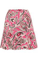 Etro Printed Stretchcrepe Skirt - Lyst