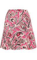 Etro Printed Stretchcrepe Skirt - Lyst