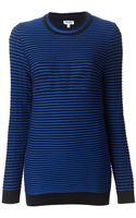 Kenzo Striped Knit Sweater - Lyst