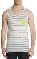 Cohesive & Co. Striped Pocket Cotton Tank - Lyst