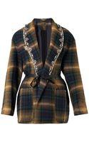 Isabel Marant Milroy Embellishedlapels Checked Jacket - Lyst