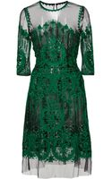 Naeem Khan Embroidered Dress - Lyst