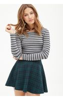 Forever 21 Heathered Stripe Crop Top - Lyst