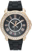 Juicy Couture Womens Pedigree Black Silicone Strap 38mm - Lyst