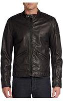 Dolce & Gabbana Leather Moto Jacket - Lyst