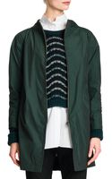 Jil Sander Zipfront Collarless Tech Jacket - Lyst