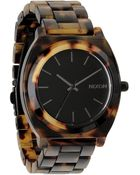 Nixon Time Teller Acetate Tortoise Watch - Lyst