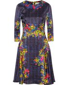 Erdem Printed Silk Dress - Lyst