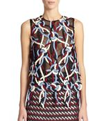 Christopher Kane Rope-Embroidered Mesh Tank - Lyst