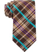 Ted Baker Silk And Wool Plaid Tie - Lyst